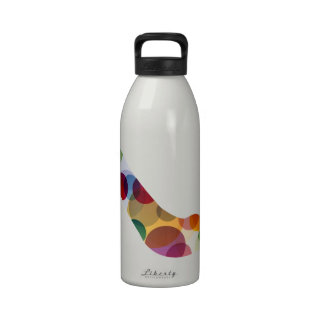 Shoe with colorful circles drinking bottle