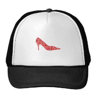 Shoe with hearts mesh hat