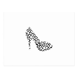 Shoe with hearts postcard