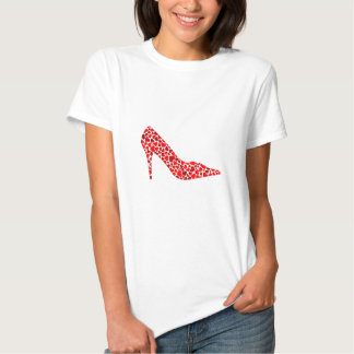 Shoe with hearts tees
