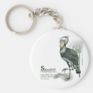 shoebill - ink basic round button key ring