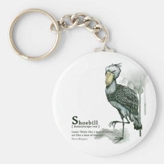shoebill - ink key ring
