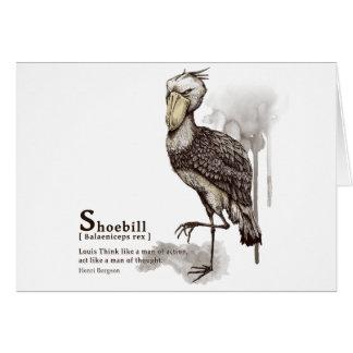 shoebill - mocha グリーティング・カード