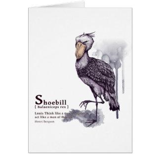 shoebill - plum グリーティングカード
