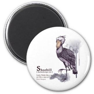 shoebill - plum magnet