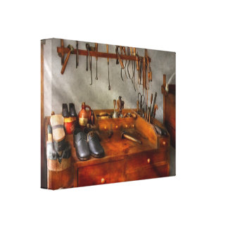 Shoemaker - The cobblers shop Gallery Wrapped Canvas