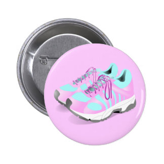 shoes-157716 CUTE PINK ATHLETIC RUNNERS STYLISH  s Pinback Button