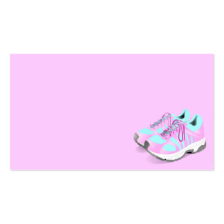 shoes-157716 CUTE PINK ATHLETIC RUNNERS STYLISH  s Business Card Templates