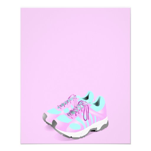 shoes-157716 CUTE PINK ATHLETIC RUNNERS STYLISH  s Full Color Flyer