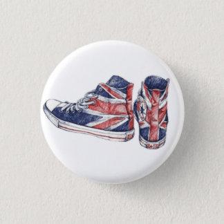 shoes 3 cm round badge