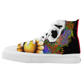 shoes colourfull skull printed shoes