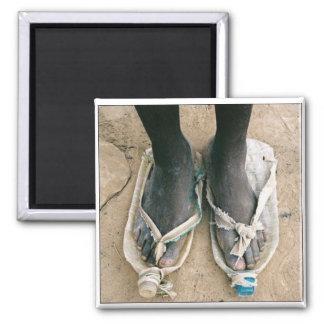 Shoes in Uganda Square Magnet