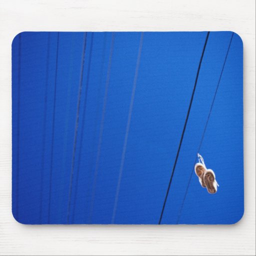 Shoes on a wire mousepad
