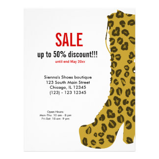 Shoes on Sale Custom Flyer