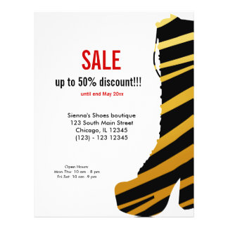 Shoes on Sale Personalized Flyer