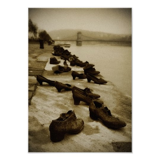Shoes on the Danube Poster