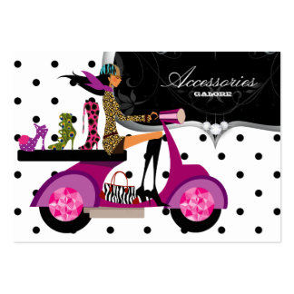 Shoes Scooter Girl Handbag Fashion Dots Pack Of Chubby Business Cards