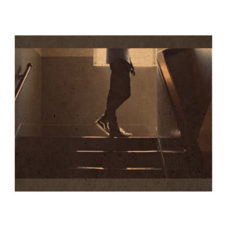 Shoes Themed, A Person'S Legs On The Landing Of Th Photo Cork Paper