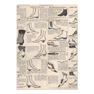 Shoes Vintage Victorian Magnetic Invitations