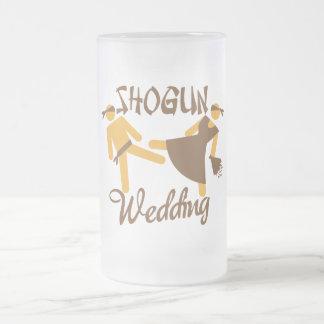 shogun wedding 16 oz frosted glass beer mug