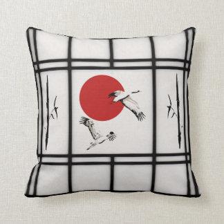 shoji - crane throw pillow