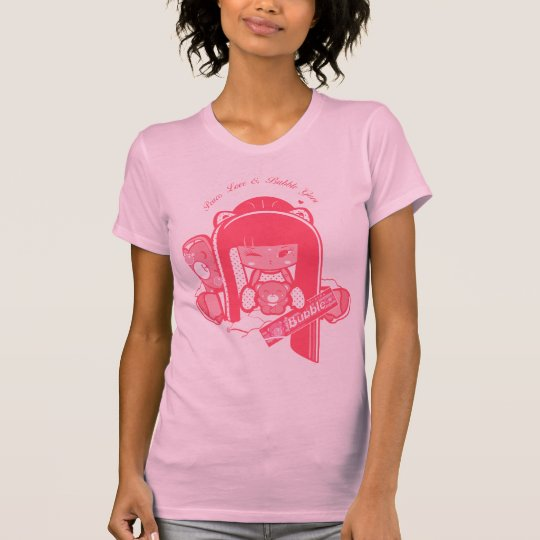"""Shokio"" Peace, Love & Bubblegum T-Shirt"