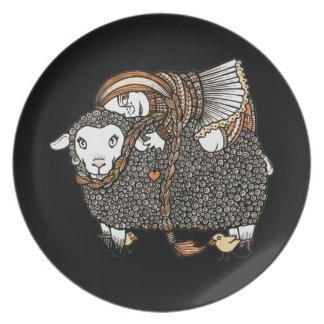 Shonaghs Sheep Decorative Plate