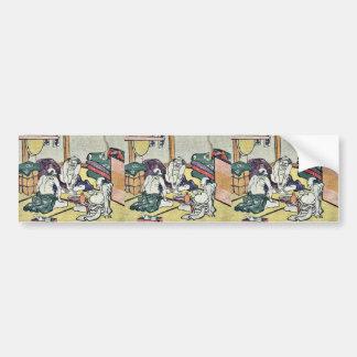 Shono by Katsushika, Hokusai Ukiyoe Bumper Sticker