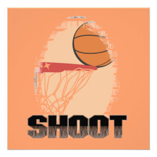 Shoot Basketball T-shirts and Gifts Personalized Invite