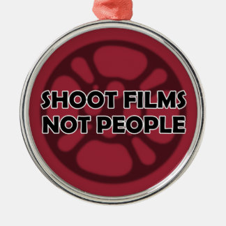 """Shoot Films Not People"" Film Reel Ornament"
