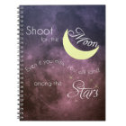 Shoot for the Moon Inspirational Photo Notebook