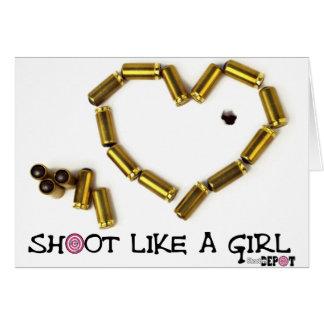 Shoot Like A Girl Card