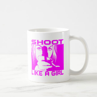 SHOOT LIKE A GIRL COFFEE MUG