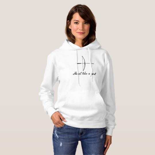 """Shoot Like a Girl"" Longbow Hoodie"