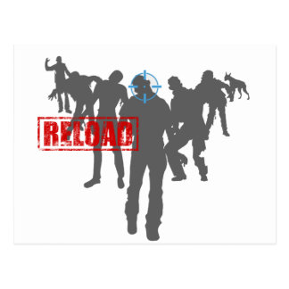Shoot The Zombies - Shotgun Reload Game Gamer Postcard