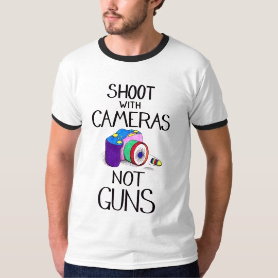 Shoot with Cameras, Not Guns T-Shirt