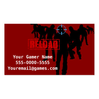 Shoot Zombies Video Game Gamer Business Cards