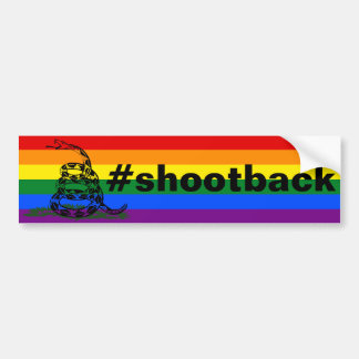 #shootback bumper sticker