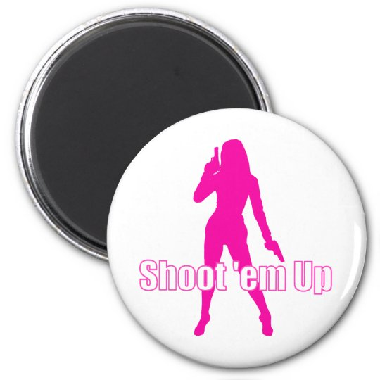 Shoot'em Up 6 Cm Round Magnet