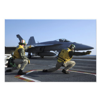 Shooters aboard the USS George HW Bush Photo Print