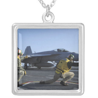 Shooters aboard the USS George HW Bush Silver Plated Necklace