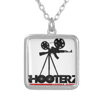 SHOOTERZ MEDIA GEAR SQUARE PENDANT NECKLACE