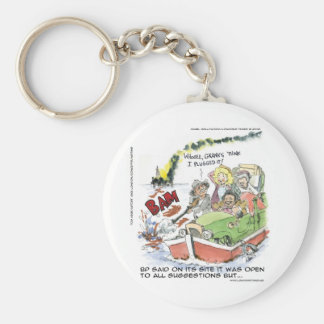 Shootin' At Some BP Crude Funny Gifts Tees Mugs Basic Round Button Key Ring