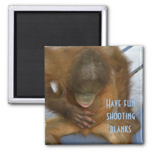 Shooting Blanks Elective Surgery Fridge Magnet