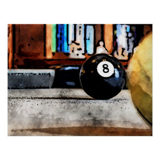 Shooting For The Eight Ball Poster