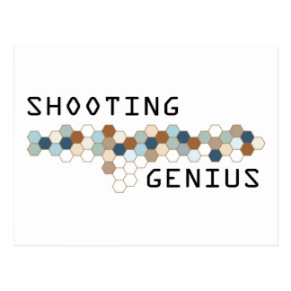 Shooting Genius Postcard