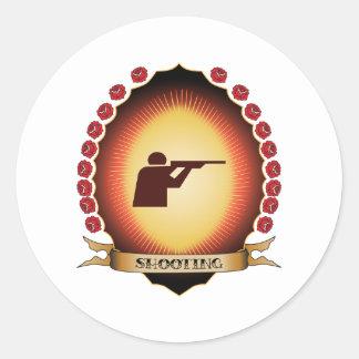 Shooting Mandorla Round Sticker