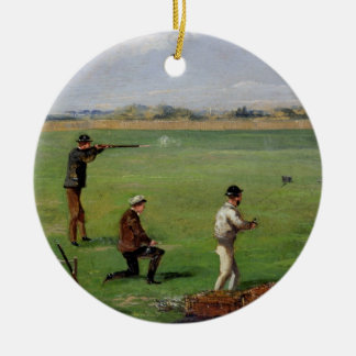 Shooting (oil on paper) christmas ornament