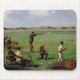 Shooting (oil on paper) mouse mat