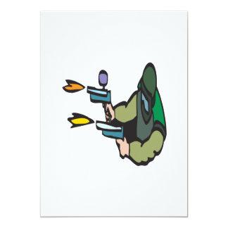 Shooting Paintballs 13 Cm X 18 Cm Invitation Card